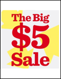 The Big $5 Sale
