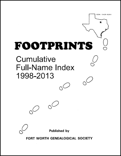Footprints Cumulative Full Name Index 1998-2013
