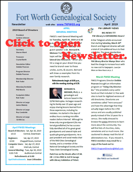 Click to open current newsletter.